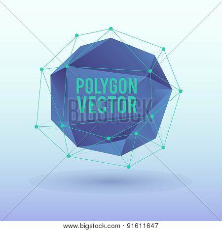 Poligon background.