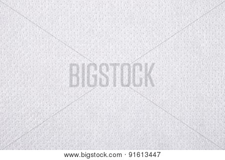 White Nonwoven Fabric Texture Background