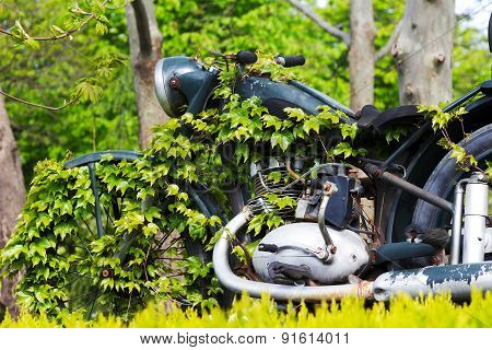Abandoned  motorcycle