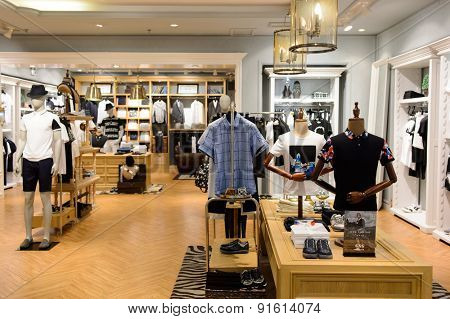 SHENZHEN, CHINA - MAY 25, 2015: shopping center interior. Shenzhen is a major city situated immediately north of Hong Kong Special Administrative Region.