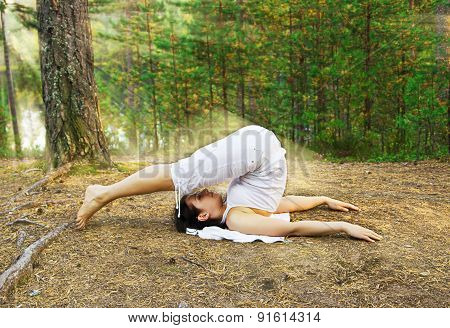 Yoga Plough Pose