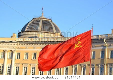 The Flag Of The Soviet Union.