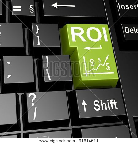 Roi Word On The Green Enter Keyboard