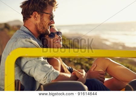 Romantic Young Couple Enjoying The Each Others Company
