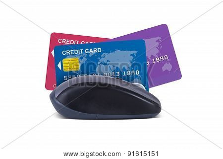 Mouse With Credit Cards
