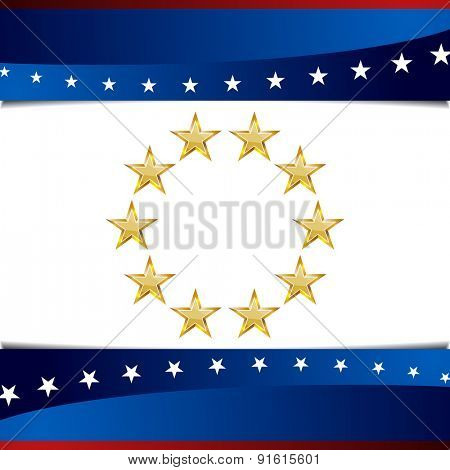 An image of patriotic star background icon.