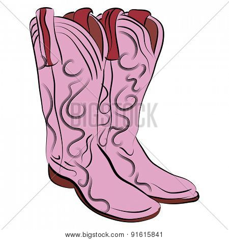 An image of a pair of cowgirl boots.