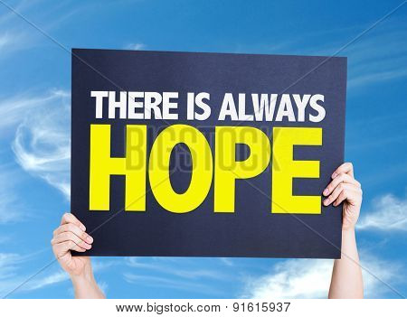 There Is Always Hope card with sky background
