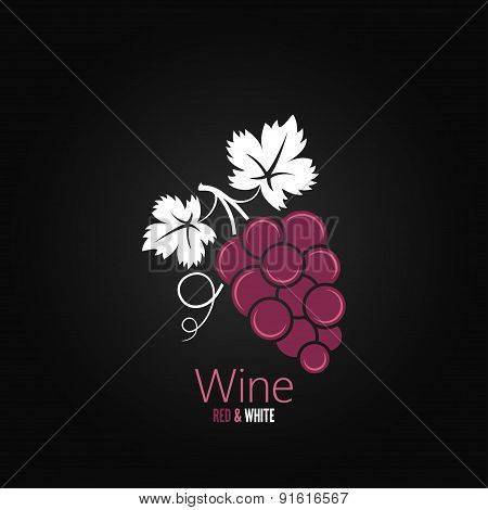 wine grapes design menu background