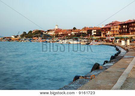 Embankment Of Old Nesebar -famous Bulgarian Resort, Balkans