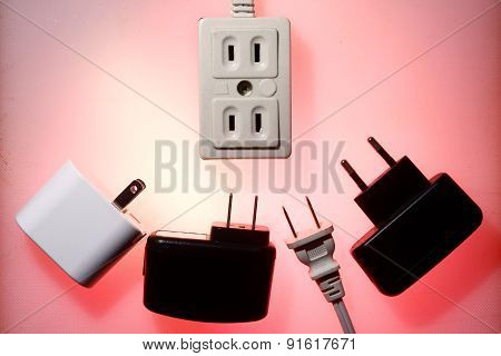 Electrical socket and electrical plugs