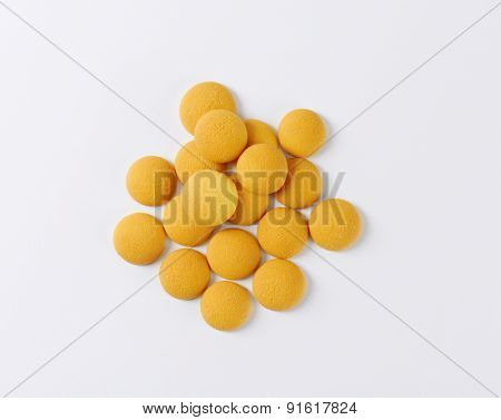 overhead view of soft sponge biscuits