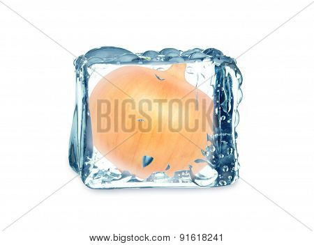 onion and cube ice