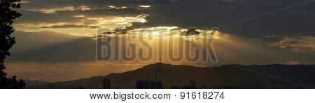 Barcelona Sunset Landscape