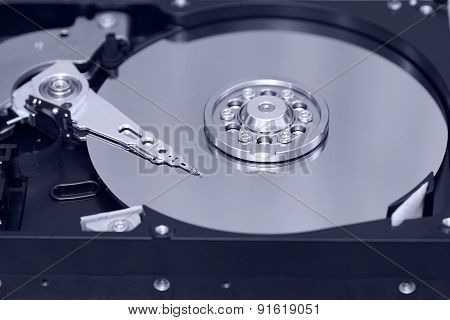 Inside Of Hard Drive,concept  Of Data And Storage