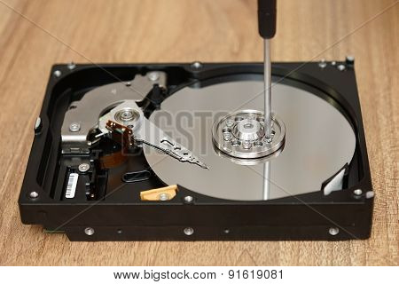 Technician Is Saving Data From Bad Disk