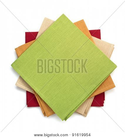 napkin isolated on white background