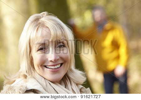 Senior couple outdoors in winter
