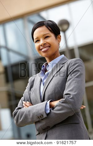 Businesswoman outdoors