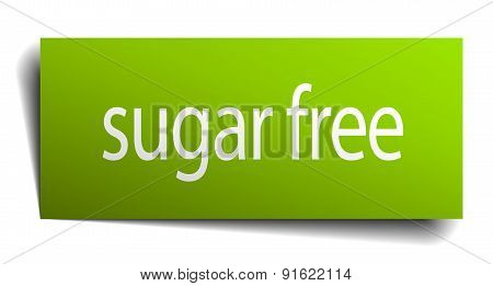 Sugar Free Square Paper Sign Isolated On White