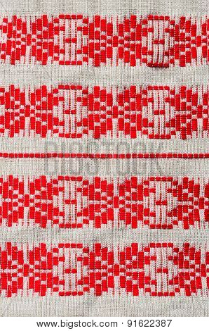 Traditional Rustic Ornament On Belorussian Towels