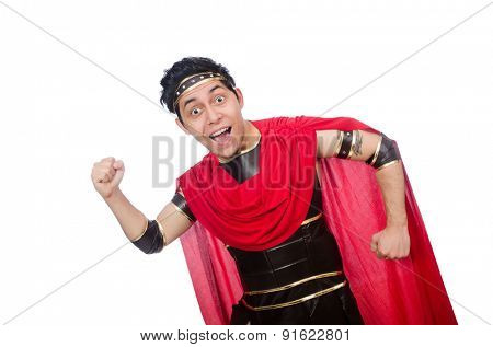 Gladiator isolated on white
