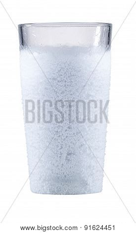 Cold Glass With Heavy Frost
