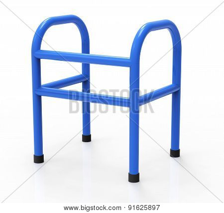 A Blue Walker Isolated On A White Background