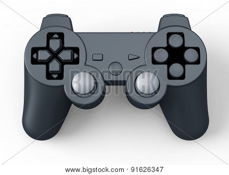 Game Controller For Console Isolated On White