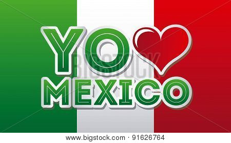 Mexico design over gray background vector illustration