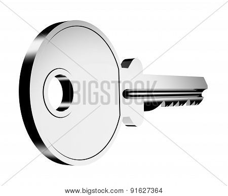 Key Isolated On A White Back Ground