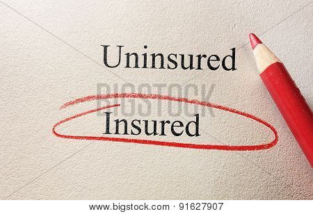 Insured Red Circle