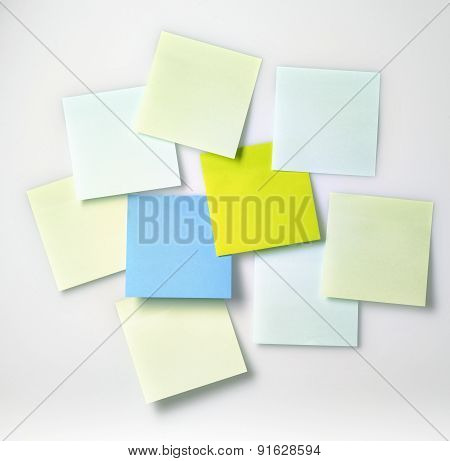 Sticky Notes Isolated On A White Back Ground