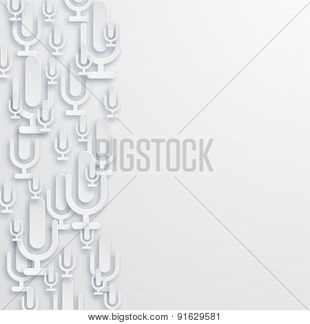 Vector modern microphone online background