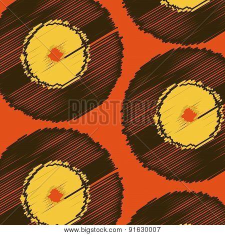 Music design over red background vector illustration