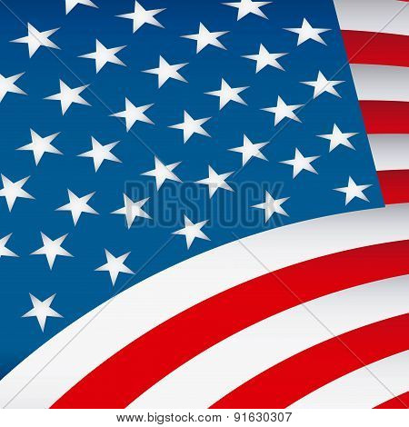 USA flag design vector illustration