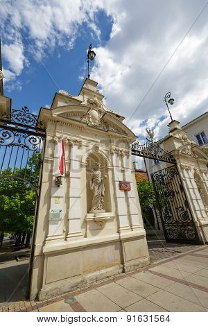 The Historic Gate To The University Of Warsaw