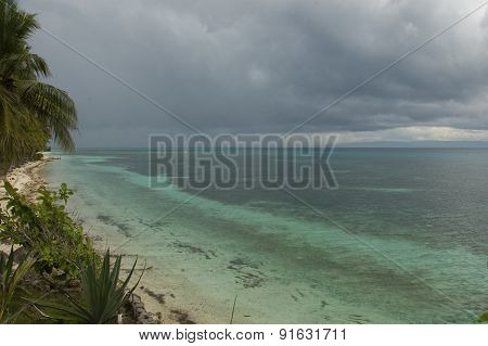 Sea And Clouds In Siquijor, Philippines
