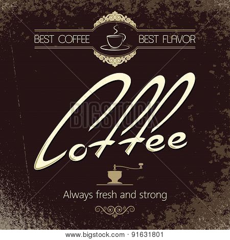 coffee vintage label background