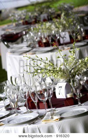 Bankett / Hochzeit Tabelleneinstellung zum Abendessen