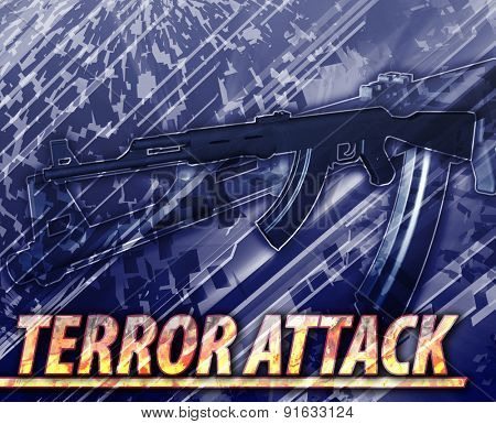 Abstract background digital collage concept illustration terror attack terrorism