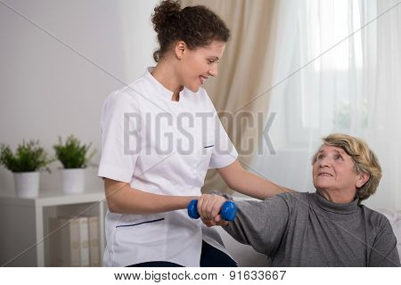 Young Therapist And Patient