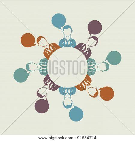 Business design over beige background vector illustration