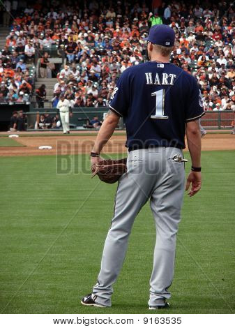 Number One, Brewers Corey Hart Stands In The Right Field Between Plays