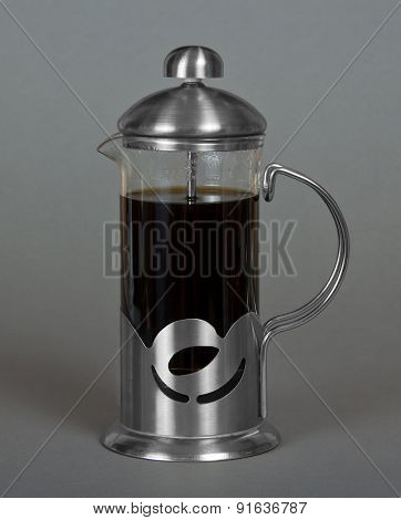 Coffee maker with fresh coffee