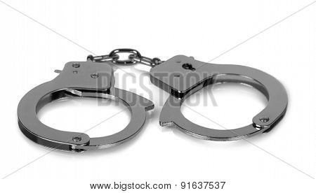 Handcuffs isolated on white