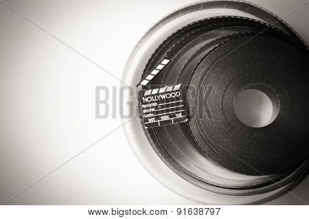 35 Mm Movie Film Reel  With Little Clapper