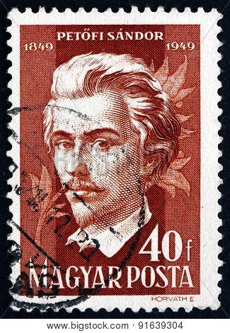 Postage Stamp Hungary 1949 Sandor Petofi, Poet