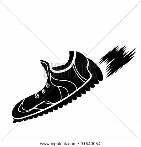 Silhouette of Ranning Shoes