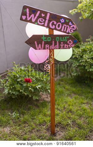 Arrow Labeled Wedding